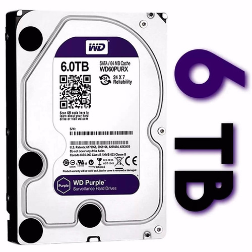 Disco Rigido Western Digital 6tb Purple Ideal Dvr Seguridad