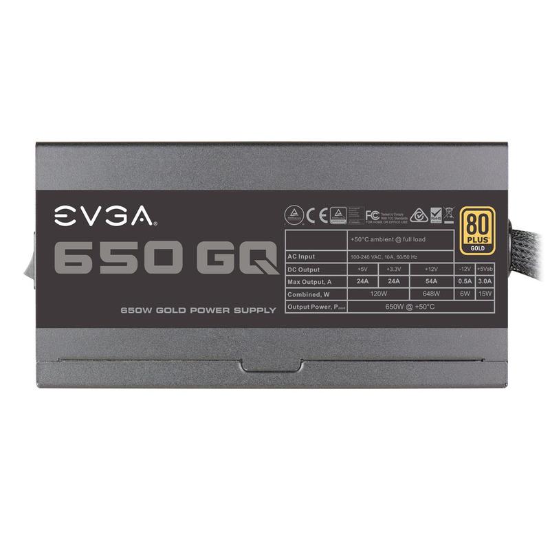 Fuente Evga 650W Gq 80+Oro Semimodular