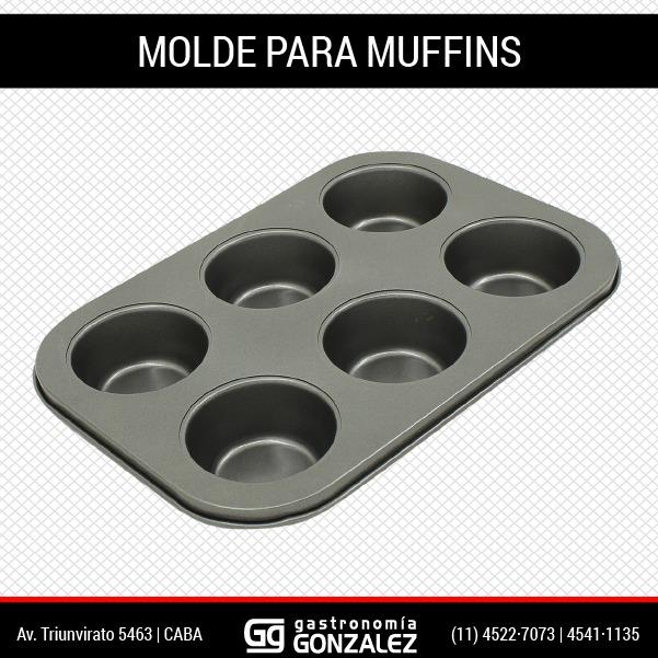 Moldes para muffins x6