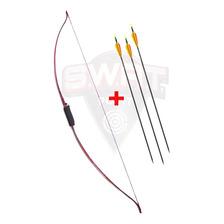 Arco Profesional Prana Long Bow Recurvo + 3 Flechas De Fibra