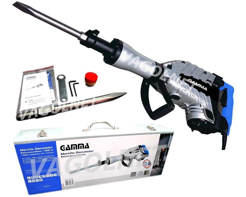 Martillo Demoledor Gamma 30j 1500 Watts C/ Maletin Metalico