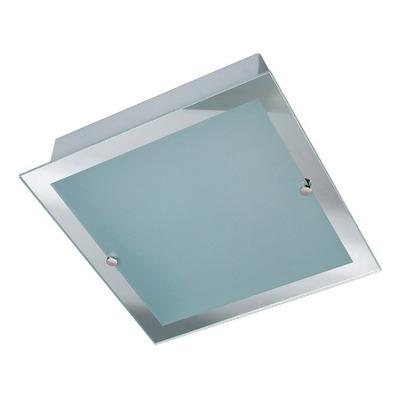 Plafon 1 Luz Vidrio Borde Espejo Apto Led Luz Desing