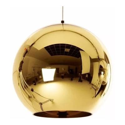 Colgante Tom Globo Oro Vidrio 40 Cm Tendencia Moderno