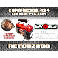 COMPRESOR DOBLE PISTON  REFORZADO 12V...
