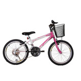 Bicicleta Infantil Athor Aro 20 Charmy 18v Feminina C/ Cesto