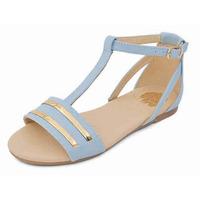 Sandalia piso azul hebilla 018241