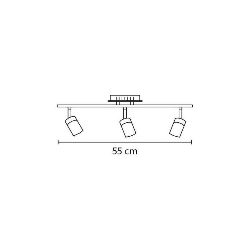 Aplique Brest 3 Luces Diseño Deco Con Led 15w Alta Potencia