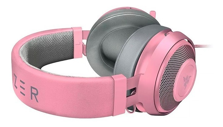 Auriculares Razer Kraken Quartz Rosa Green Oval Gamer Pc