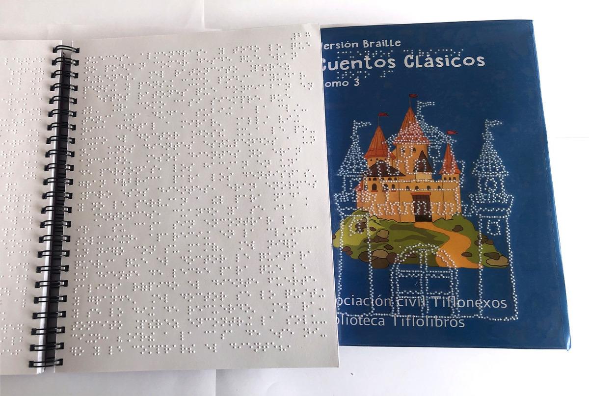 Libro impreso en braille de cuentos clásicos. Tomo 3