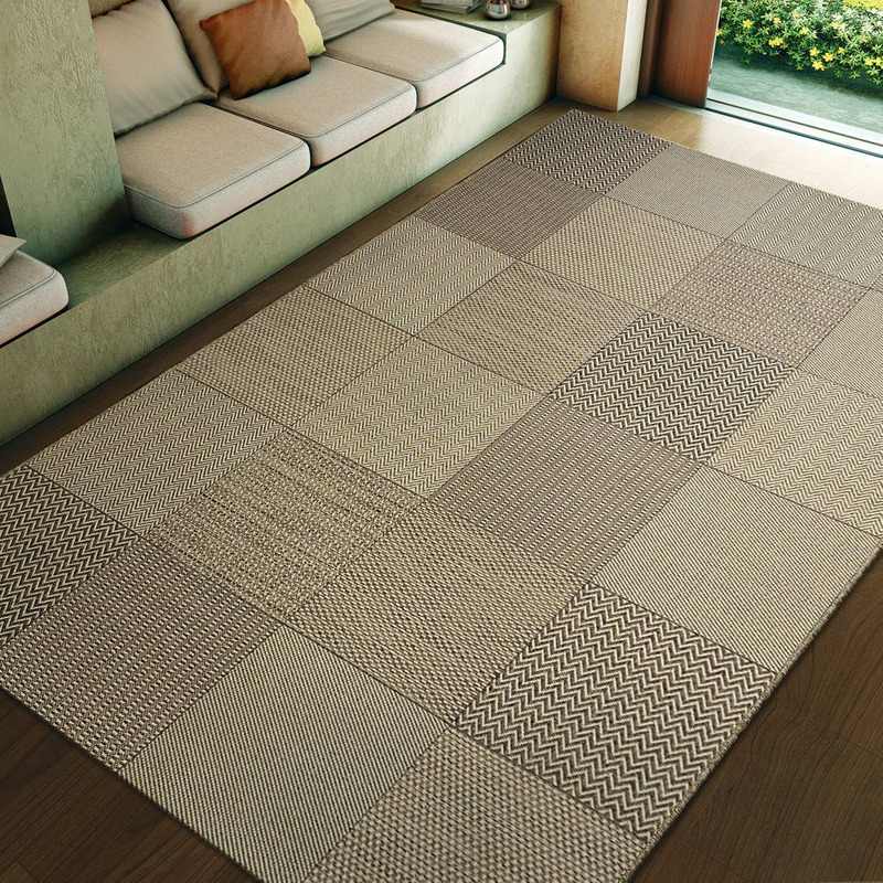 Tapete Sisal New Boucle Patchwork 85/70 2,00X2,50- Tapetes São Carlos