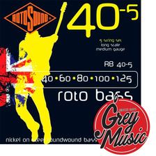 Encordado Rotosound Rb40-5 Roto B 40-125 Para Bajo 5 Cuerdas