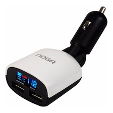 Cargador Para Auto Noga Carga Rapida Display Car Usb 18