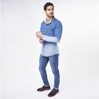 Camisa Azul Mezclilla Degradado 019246