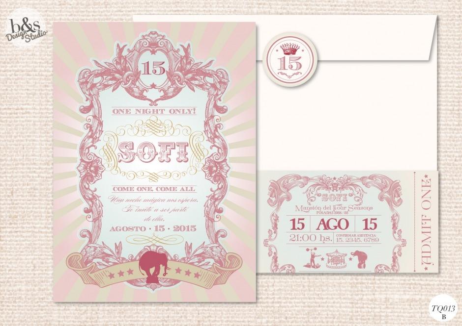 Invitación 15 años TQ013B