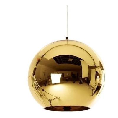 Colgante Tom Globo Oro Vidrio 15 Cm Tendencia Moderno