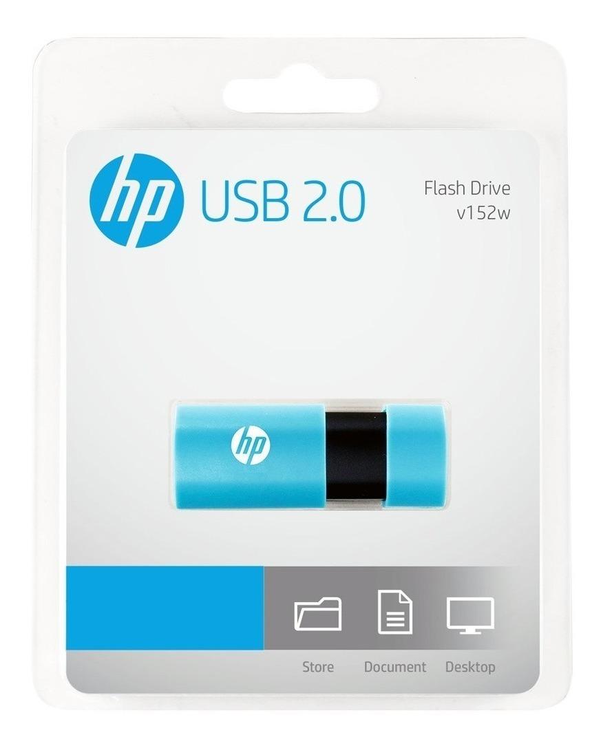Pendrive 64gb Hp V152w Usb 2.0 Retractil Pen Drive Original