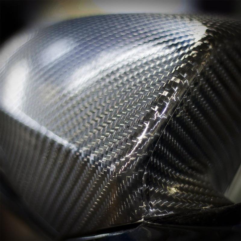 Adesivo para envelopamento fibra de carbono 4 D Larg. 1,50 m