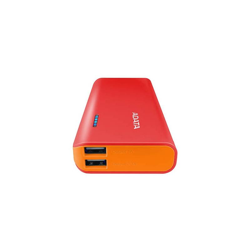 Power Bank ADATA PT100 10000MAH Rojo y Naranja