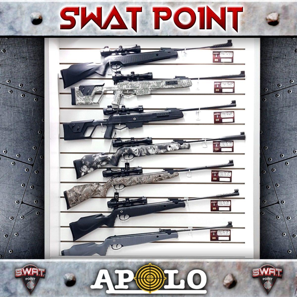 Rifle Aire Comprimido Apolo 1000 Nitro Camu Alto Poder Caza