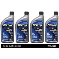 Texlub 4 Tiempos, FS, JASO MA2 15W50 Kit de 4p