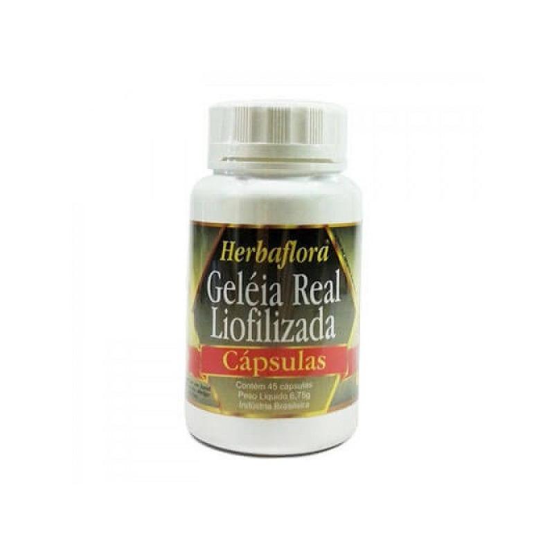 Geleia Real  Liofolizada 45 Capsulas - 500mg - Herbaflora