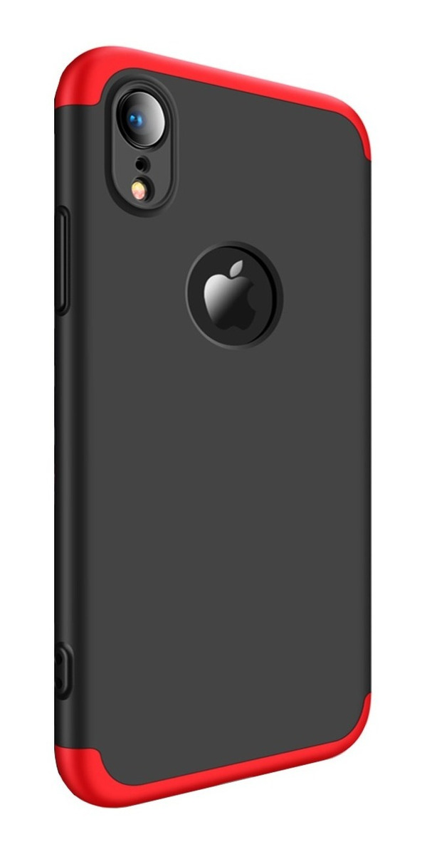 FUNDA 360 LUXURY IPHONE X ROJA CON NEGRO (TERRACOT