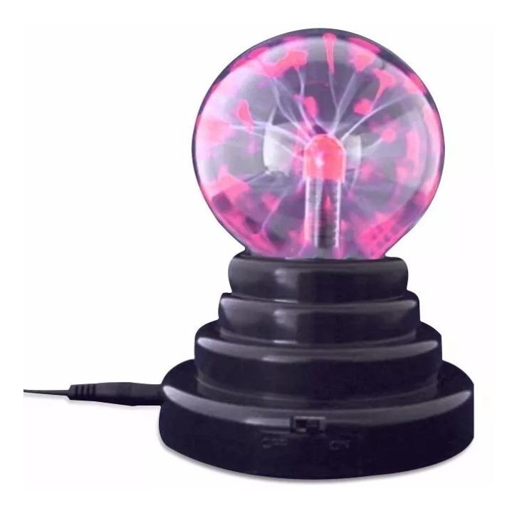 Bola Lampara Plasma Rayos Tactil Velador A Pila O Corriente