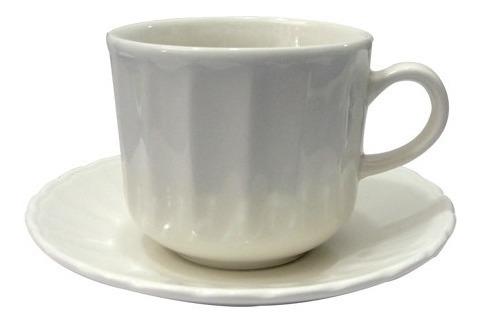 Set X 6 Tazas C/ Platos Porcelana Corona Caribe Te Cafe