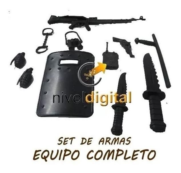 Muñeco Soldado  Militar Swat  Armas  Souvenir Cumpleaños