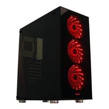 Gabinete Gamer Noga 8608 Coolers Panel Vidrio + Fuente 600w
