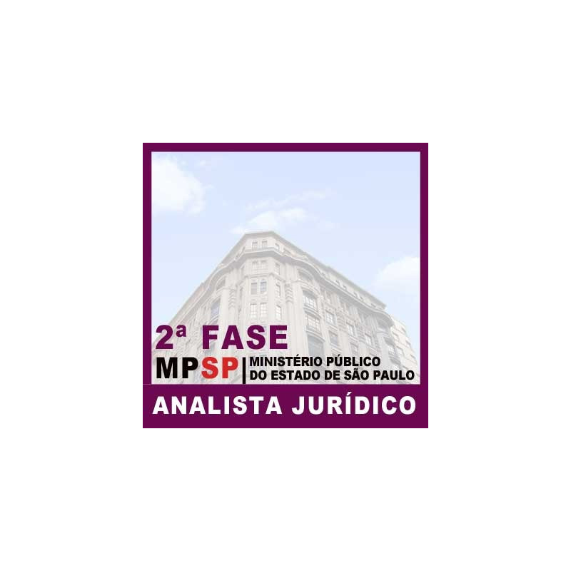 MP SP Analista Jurídico 2018 - 2ª Fase