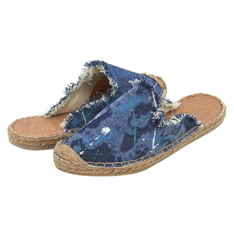 Sandalia De Piso Azul Mezclilla 020961