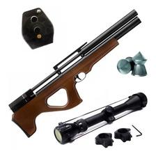 Rifle Aire Comprimido Fox Pcp P15 Regu + Mira Zoom Cargador
