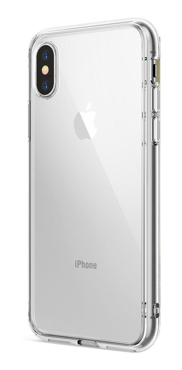 COMBO FUNDA RINGKE FUSION IPHONE XR CLEAR (TRANSPARENTE) + VIDRIO CURVO