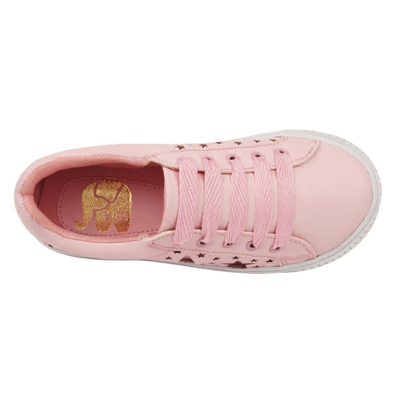 Sneakers rosas con perforaciones 018744