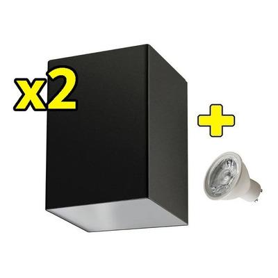 Pack X 2 Unidireccional Con Led Gu10 Iluminacion Exterior