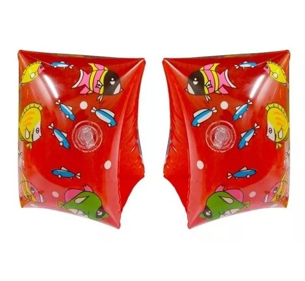 Set X 2 Pares Bracitos Inflable Plastico Niños Playa Pileta