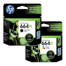 Cartuchos Hp 664 Xl Combo Negro + Color Original P/ 2135