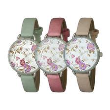 Reloj Lemon L1401 Analogico Flores Sumergible Varios Colores