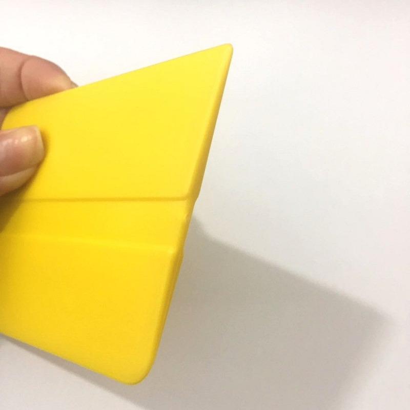 Espátula com pontas amarela para aplicação insulfim e vinil adesivo