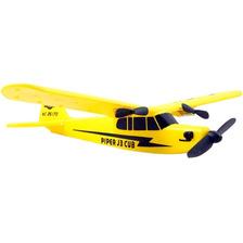 Avion Rc Planeador A Control Remoto J3 Piper Usb Wltoys