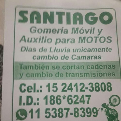 Gomeria Movil Para Motos