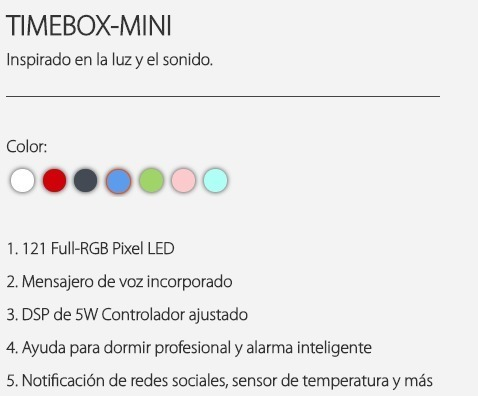 Mini Parlante Bluetooth Portatil Divoom Timebox Oferta