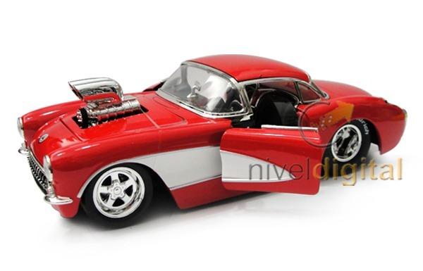 Auto Replica 1957 Chevy Corvette Die Cast Jada 1:24 Caja