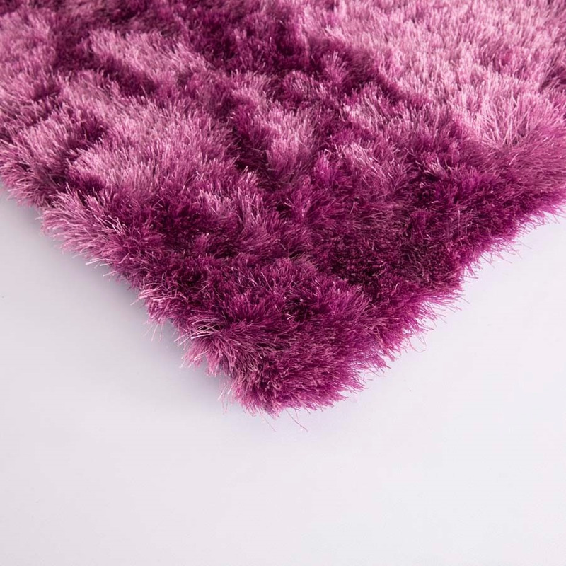 Tapete Gold Shaggy Cor 06 Lilas 1,00X1,50 Lilas- Edx Tapetes