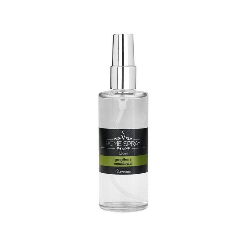 Aromatizador Home Spray Gengibre e Mandarina 120ml Via Aroma