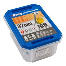 Tornillos De Zinc Kreg Sml-c125 De 1 1/4 32mm 100 Unidades