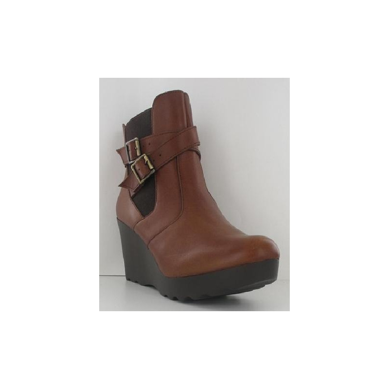 Bota miel con broches 010734