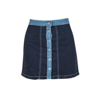 Falda corta azul mezclilla con botonadura 012524