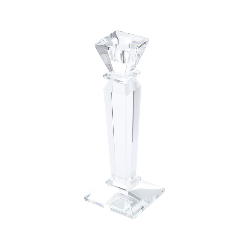 Castiçal em Vidro Round de sign 31,7X3,9Cm - Prestige 3103357